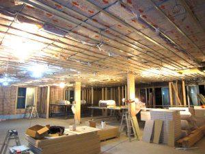 耐震工法テクノストラクチャーで建築した商業施設(さいたま市)事例の工事中写真