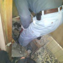 トイレリフォーム工事中写真