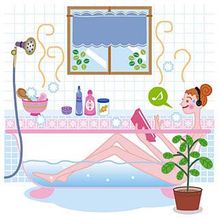 入浴を楽しむ