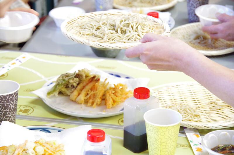 そば打ち教室@埼玉県川口市・試食の写真1