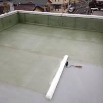 屋上防水リフォーム中(防水施工中)