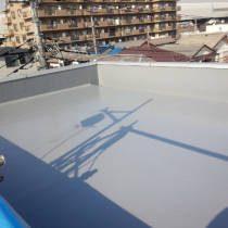 屋上防水リフォーム中(防水施工・トップ施工中2)