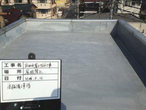屋上防水リフォーム中(高圧洗浄後)