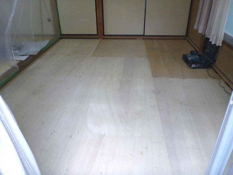 埼玉県川口市の畳床リフォーム事例・リフォーム後(畳を敷く前)