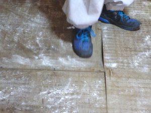 リフォーム前(床が柔らかくなっている)
