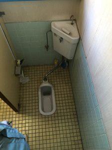 リフォーム前のトイレ(大便器)