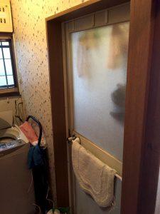 リフォーム前の洗面脱衣所