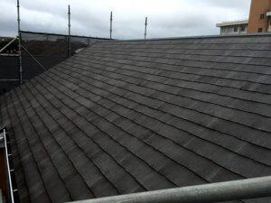 屋根の洗浄後。