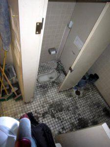 リフォーム前のトイレは和式トイレだった。
