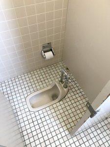 リフォーム前の和式トイレ。昔ながらのトイレである。