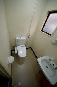 女子トイレも男子トイレ同様に洋式トイレとなっている。