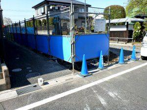 工事を行うにあたって、まずは駐車場のコンクリートを全て剥がした。