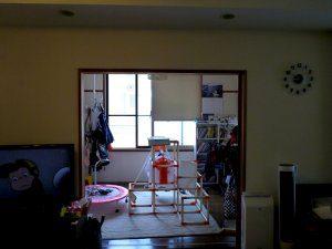 リフォーム前の部屋の入口はやはり和室のままであった。