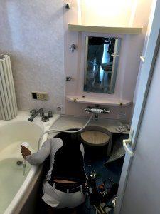 シャワーのノズルも節水型のものになっています