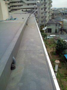 施工前の排水口の様子。