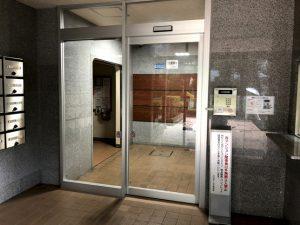 新設されたオートロック扉